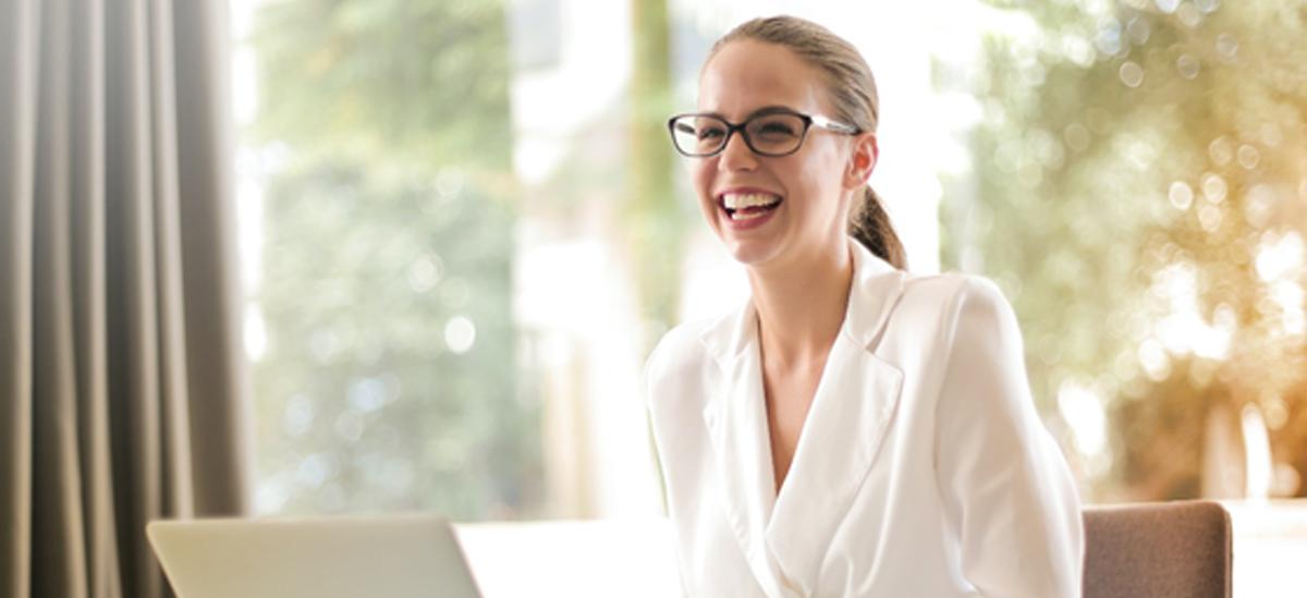 Women Enjoying her work   Palmers Business Support